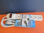 6 OUTLET PLASTIC SURGE PROTECTOR STRIP - UL LISTED